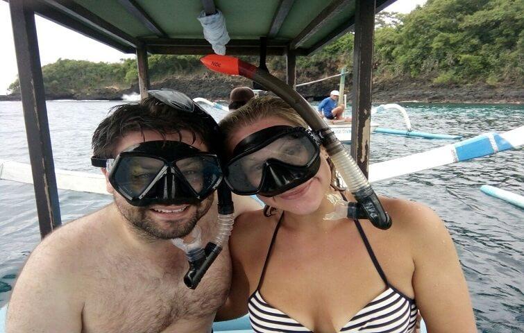 Des snorkelers heureux