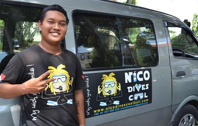 Putu, chauffeur à Bali