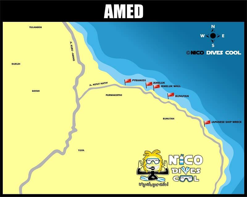 Spots de plongée d'Amed