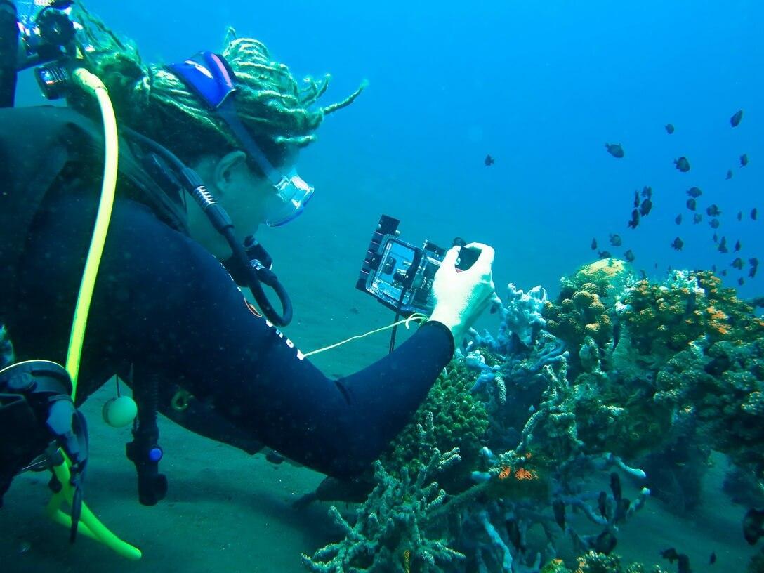 Cours de photographie sous-marine à Bali