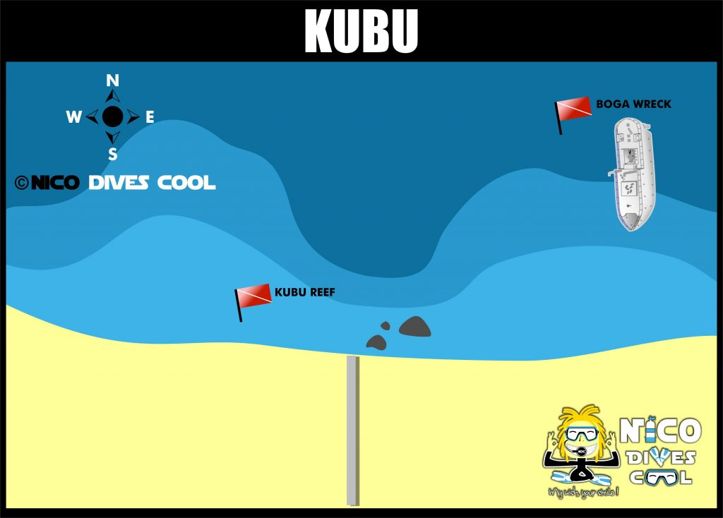 Carte de plongée de Kubu