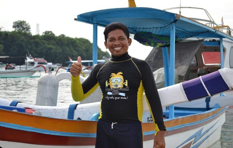 Capitaine de Junkung à padang Bai
