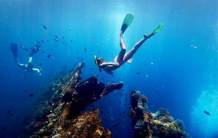 Snorkeling à Tulamben